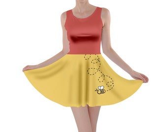 Adult Winnie the Pooh Inspired Skater Dress