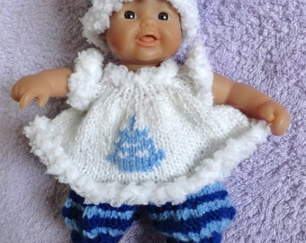 "Hand Knitted Dolls Clothes for 8""  OOAK  Doll (# 208)"