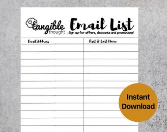 emailing list template