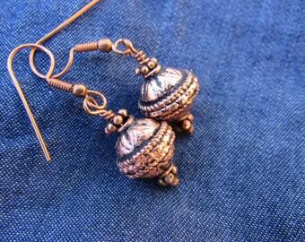 Copper Lantern Earrings (#EZOO)