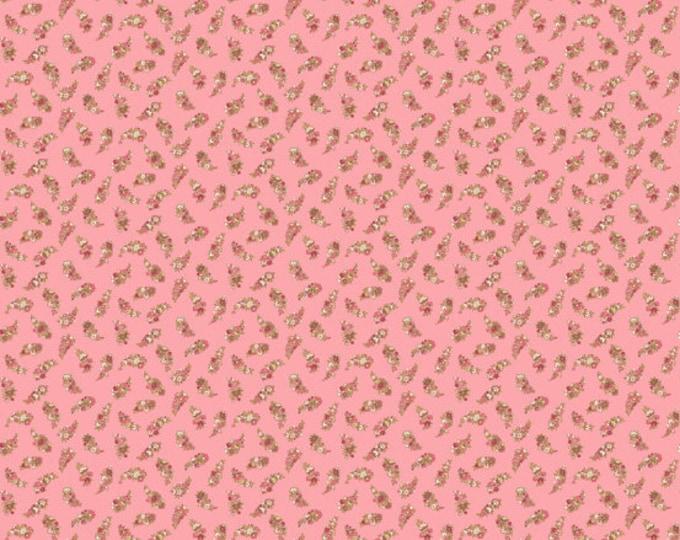 Carlisle - Floral Leaves Pink 8471RE - 1/2yd