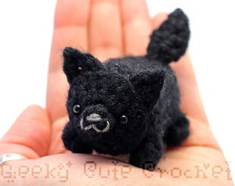 Black Wolf Yami Amigurumi Plush Toy Stuffed Animal Crochet