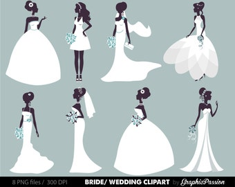 Wedding Clipart, Bridal Clipart, Bride clipart, Digital Bride Groom Clip Art Wedding ClipArt Digital Bride Clipart Wedding Invitation Bridal