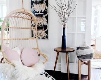 Pink Velvet Ivory Linen Pillow/Vintage Rose Pink Pillow/Pink Ivory Pillow Cover/Custom/Handmade/Eclectic/ZigZag Studio Design