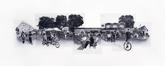 Portland Fine Art - Original Art - Photographic Etching - Art Print - Photography - Oregon - Photogravure - Photo Collage - Last Thursday