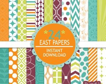 Commercial Use Digital Paper Digital Scrapbook Printable Paper Pack Instant Download