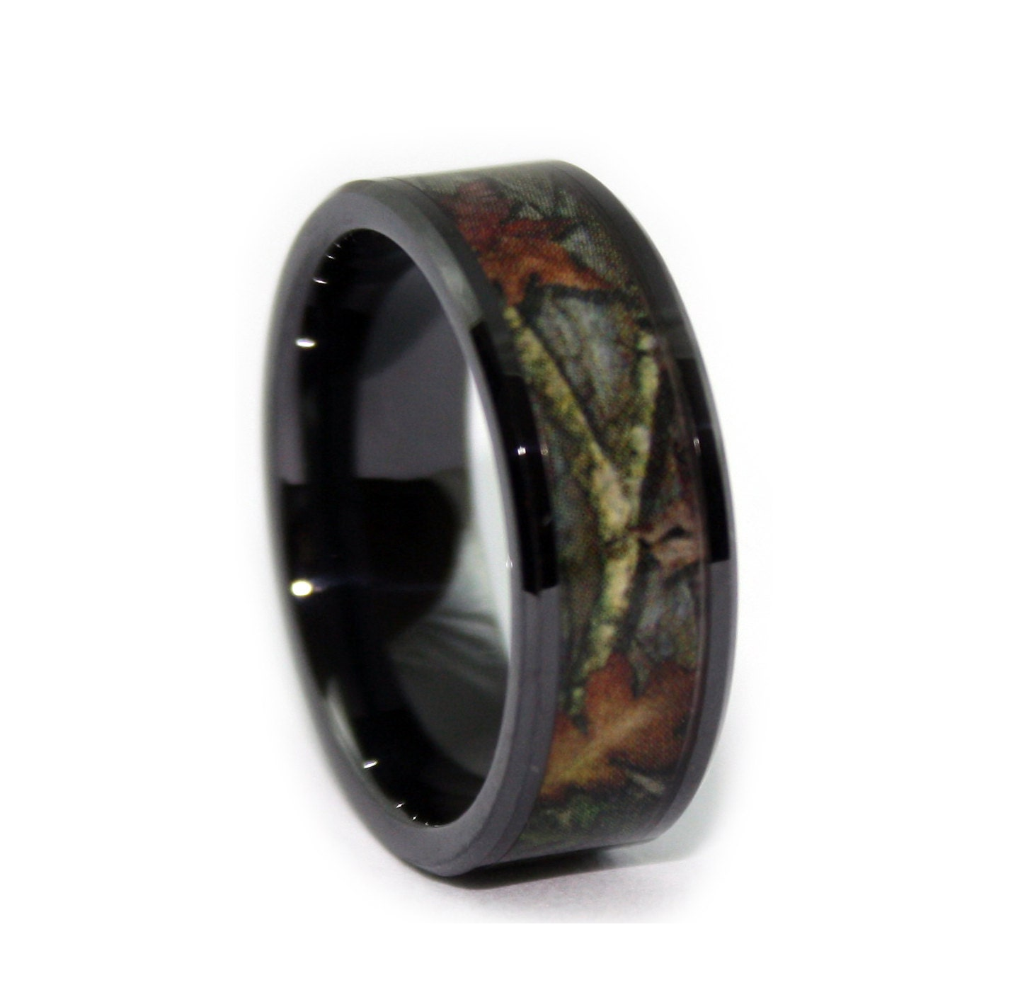 zoom - Black Mens Wedding Ring