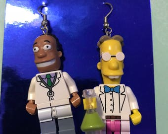 The brainy smarties lego earrings #2