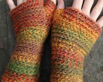 Crochet Fingerless Gloves Wrist warmers.
