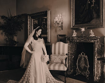 1920s wedding dress etsy vintage 1920s wedding dress lace overcoat wa line ivory bias silk slip junglespirit Choice Image