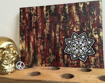 Abstract Mandala Acrylic Painting