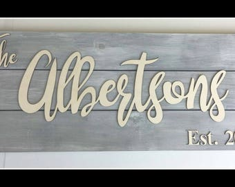Family Name sign, Established sign, Est sign, Family est sign, Est Signage, Family est sign, last name sign, Personalized Wedding gift