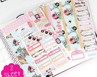 MV60 June Summer Fun BILLS DUE Month in View Life Planner Stickers -Monthly kit -  Erin Condren Planner - ECLP