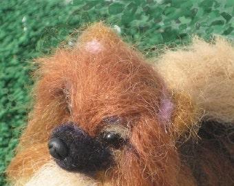 Pet Memorial  Felt Miniature of your Pet / Custom Pet Portrait / Needle Felted Dog /Gourmet Felted /example Pomeranian Pom / Pet Lovers Gift