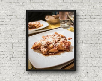 Italian Pasta Print / Digital Download / Fine Art Print/ Wall Art / Home Decor / Color Photograph / Food Photography / Kitchen Print