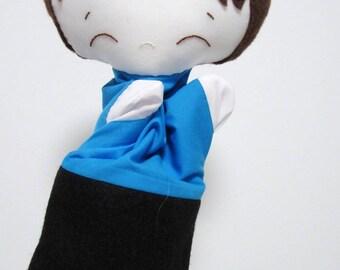 Philippe puppet, hand puppet, puppet boy