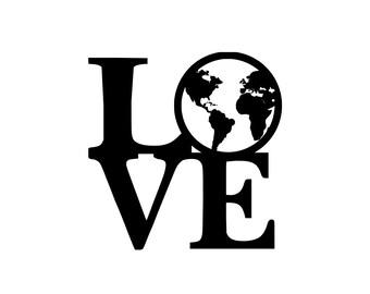 earth love Vinyl sticker