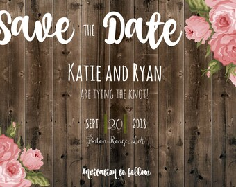 Floral Save the Date Invitation!