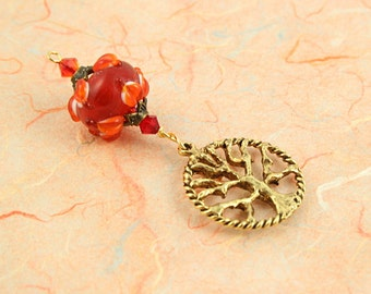Blessingway bead - Love Petals Tree of Life - Mother Blessing bead, mama goddess