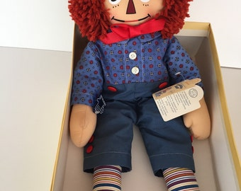 Raggedy Andy  Cloth Doll / Mollye  Reproduction/ Applause Company / JUST REDUCED By Gatormom13