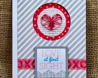 Love At First Sight Paper Quilled Card