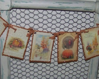 Thanksgiving Banner Autumn Banner Vintage Style Autumn Banner
