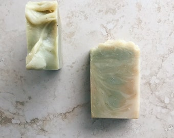 lemongrass sage soap | made in ALASKA |  lemongrass soap | all NATURAL soap | GREEN soap | handmade soap | minimalist gift | yellow soap
