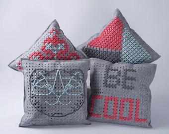 Phildar embroidery pillow Kit