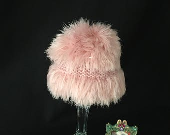 Funky punk rock baby fun photo prop hat handknit super soft, baby girl