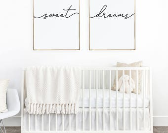 Above Crib Art/ Set Of 2 Prints/ Minimalist Poster/ Above Bed Art/
