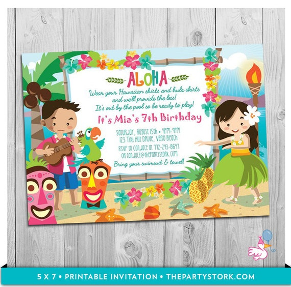 hawaiian party invites elita aisushi co