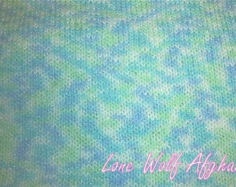 Hand knitted baby Red Heart Econ Bathtime Print