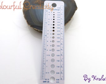 Needle gauge - ruler