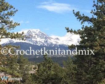 Rocky Mountains Colorado Photography Image Ready to Print - Instant Download
