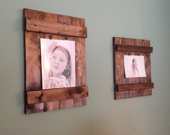 Wooden Picture Frame, Wall Decor, Rustic Wood Frame, Rustic Wall Decor, Wood Picture Frame, Rustic Decor, Home Decor 8x10, 5x7, or 4x6 Photo