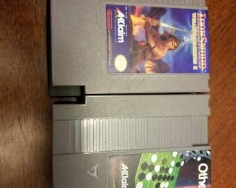 "2x! 1985 Nintendo Games ""OTHELLO"" & ""IRON SWORD 2"""