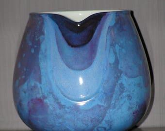 Small blue porcelain