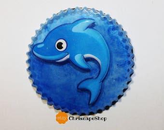 Resin Magnet ' dolphin '