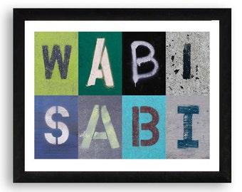 Wabi-Sabi Typographic Art Print