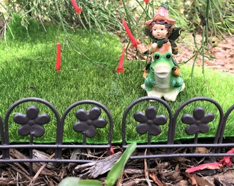 Fairy Garden Fence Edging, Border Fence, Miniature Fairy Garden Flower Fence, Rustic Fence