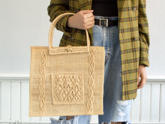 70s Woven Tote Bag by Etsy