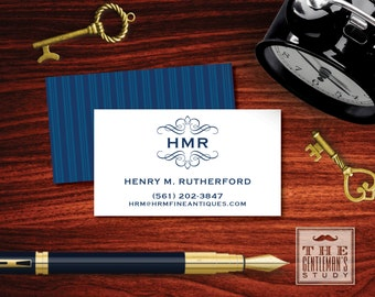 Circle monogram calling cards masculine personal business kensington calling cards monogrammed personal business cards masculine contact cards phone email colourmoves