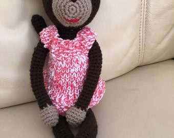Handmade Crocheted Monkey; Amigurumi Toy; Small crochet Monkey; Stuffed Monkey