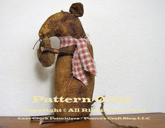 Primitive Mouse Pattern, Mouse Patterns, Primitive Mice, Sewing ...