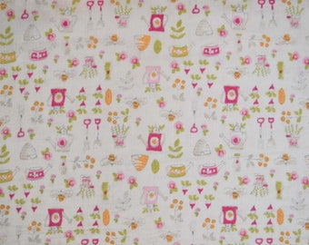Summer Garden Japanese Cotton Double Gauze Fabric from YUWA sold in 1/2 yard increments