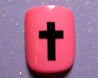 Cross nail decals, cross nail stickers, planner stickers, Christian gifts for women