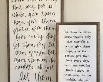 Let Them Be Little | Framed Sign | Nursery Decor