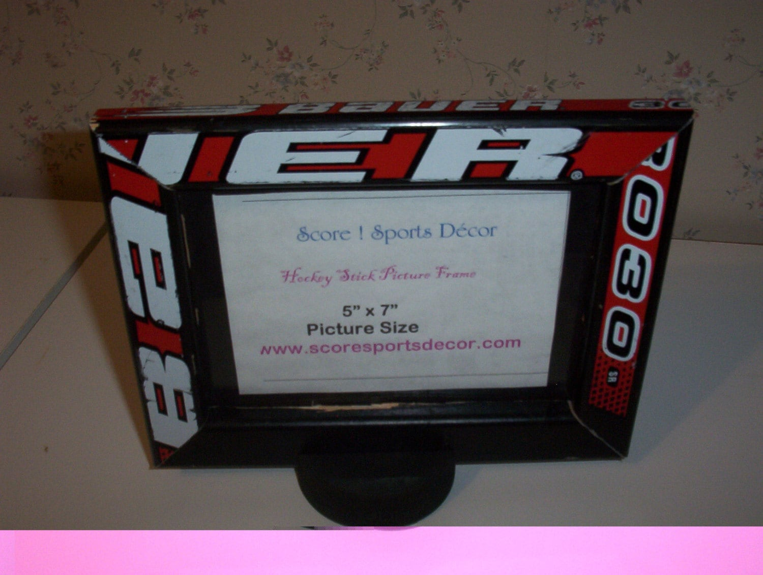 Hockey Stick Picture frame 5x7