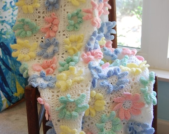 All in Bloom Crochet baby afghan