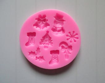Christmas tree star Bell silicone mold